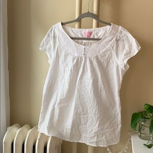 Lily Pulitzer Embroidered Polka Dot Top